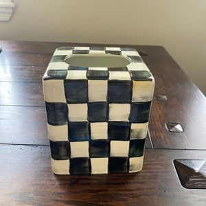 Mackenzie Childs classic checkered tissue box